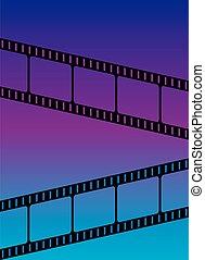 Blue Violet Gradient Film Festival Background