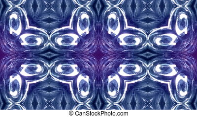 blue violet loopable abstract particle background with depth of field, glow sparkles of lights and digital elements. Wave particles form lines and lines form curve surface like kaleidoscope pattern. 4