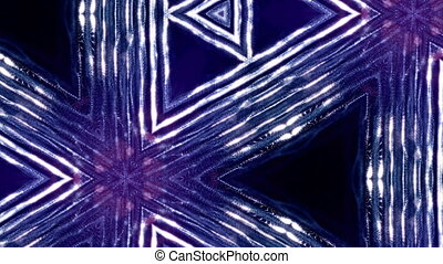 blue violet loopable abstract particle background with depth of field, glow sparkles of lights and digital elements. Wave particles form lines and lines form curve surface like kaleidoscope pattern. 1