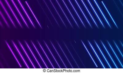 Blue violet neon laser lines video animation