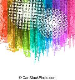 Blue Violet Paint Splashes Gradient Background