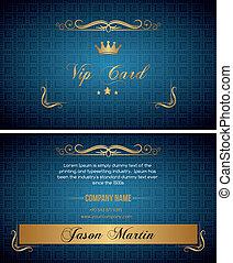 Blue vip card
