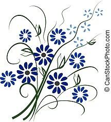blue virág, elszigetelt, gyönyörű