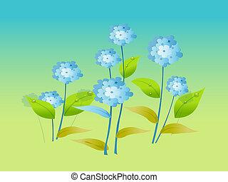 blue virág, vektor