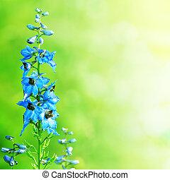 blue virág, zöld