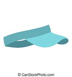 Blue visor icon isolated