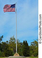 blue., vlag, amerikaan, de strepen van sterren, wit rood