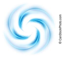 Blue vortex on white background for design