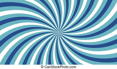 Rotating vortex with blue and white stripes