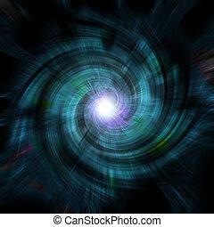 blue vortex spin - A blue-ish, spiraling vortex background -...