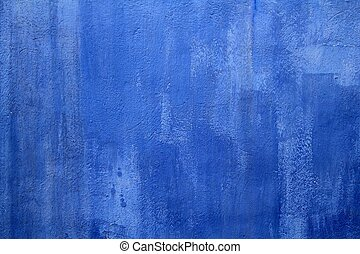 blue wall texture grunge background in Mediterranean house