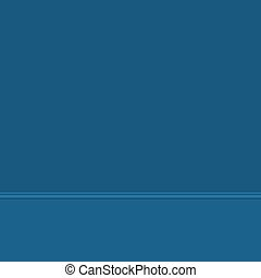 Blue wall and floor, wall with baseboard molding, part of the interior, vector illustration