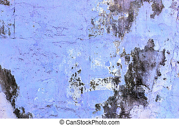 Blue wall with mold background