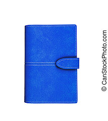 Blue Wallet isolated on white background