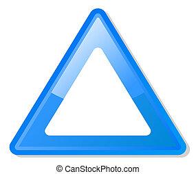 Blue warning triangle