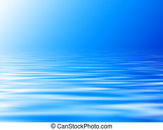 blue water background with horizon - blue water background...