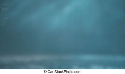 Blue water background with lights