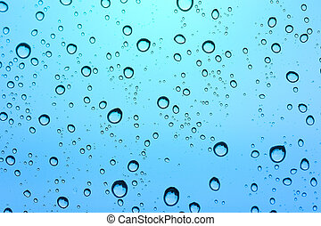 Blue water drop background.