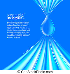 Blue Water drop background. Vector illustration, contains...