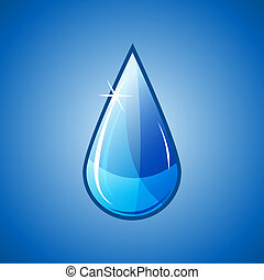 blue water drop falling