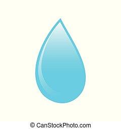 Blue Water Drop Icon Symbol Logo Design