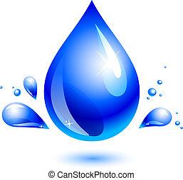 water drop - blue water drop on white. eps 10