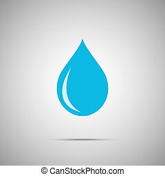 blue water drop vector icon