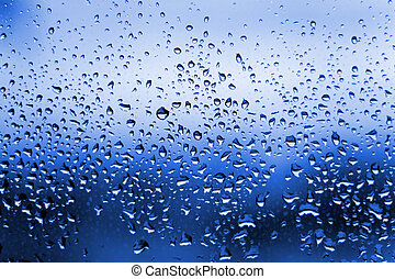 Blue Water Droplets Condensation