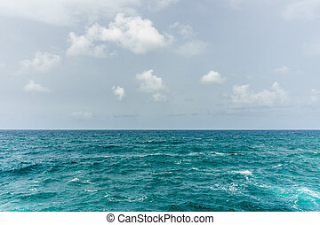 Blue water in Mediterranean Sea seascape abstract background.