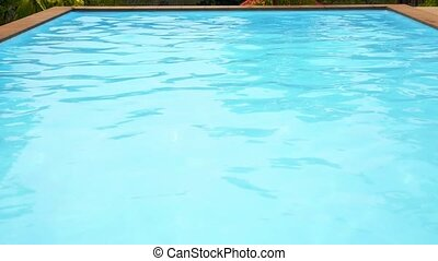 Blue Water in Swimming Pool. Speed up.