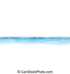 Blue water line