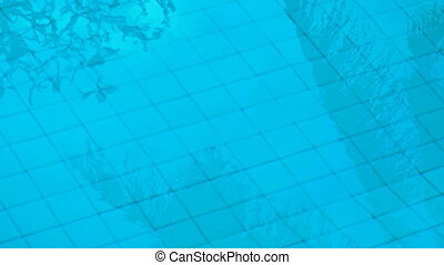 Blue Water of a Swimming Pool. Video 1080p - Cool, inviting,...