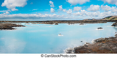 Blue Lagoon - Blue water of the famous Icelandic Blue Lagoon...