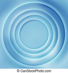 Blue water rippled surface vector background