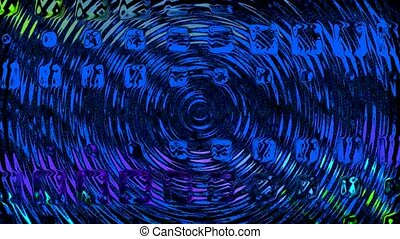 blue water ripple,glass wave