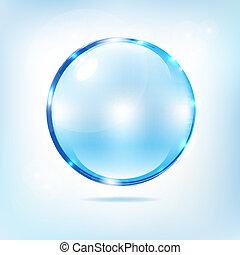 Blue Water Splash Ball