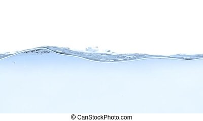 Blue water splash on white background