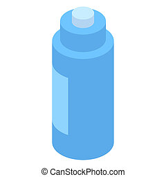 Blue water sport bottle icon, isometric style