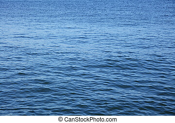 Blue water surface of sea