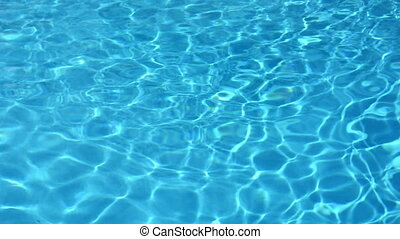 Blue water swimming pool