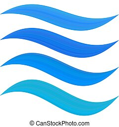 Blue water symbol element set