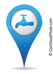 water tap icon - blue water tap icon