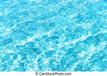 Blue water texture with waves
