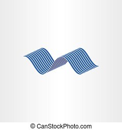 blue water wave flow vector illustration