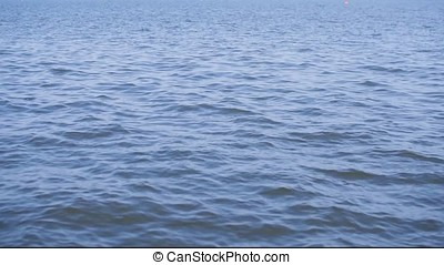 blue water, waves, water surface