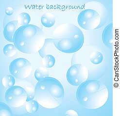 Blue water with bubbles vector illustration
