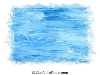 Blue watercolor background for frame, textures and backgrounds. Abstract watercolor.