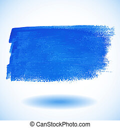 Blue Watercolor Banner. Vector illu