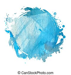 blue watercolor blot - Grunge banner. Grunge watercolor...