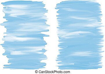 Blue watercolor brush stroke banner on white background vector illustration